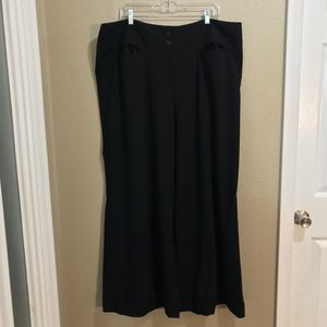 Lane Bryant Black Wide Leg Trousers Sz 24 Average